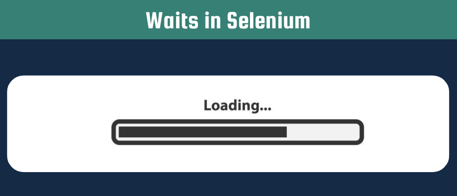 shows a loading bar for the different kinds of waits in Selenium