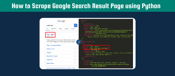 scrape google search result page using Python