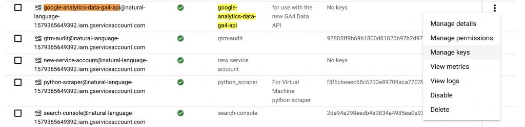 google cloud platform service account overview