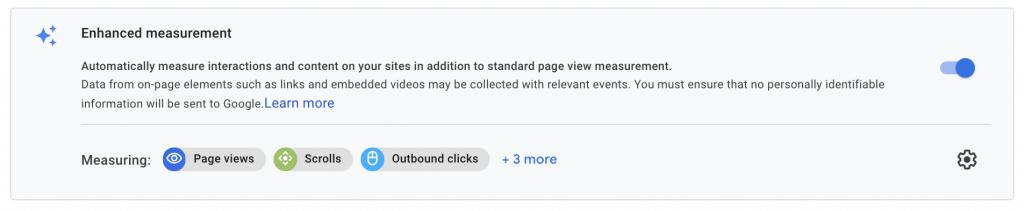google analytics 4 enhanced measurement
